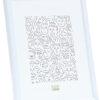 Smalle eenvoudige kunststof fotolijst in wit