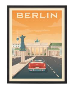 Ingelijste poster: Vintage Berlijn