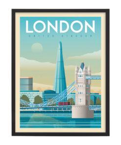 Ingelijste poster: Vintage Londen