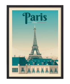 Ingelijste poster: Vintage Parijs